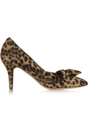 Isabel Marant Pealman leopard-print calf hair pumps