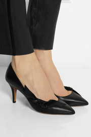 Isabel Marant Pealman bow-embellished leather pumps