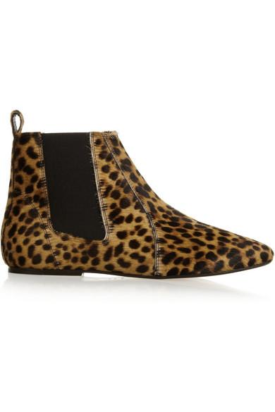 ff39bfac019 Isabel Marant | Étoile Dewar leopard-print calf hair ankle boots ...