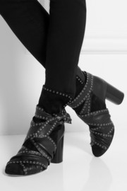 Isabel Marant Aubrey studded leather and suede ankle boots