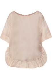 No. 21 Tilde ruffled silk-organza top