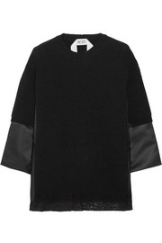 No. 21 Mirta paneled wool-blend sweater