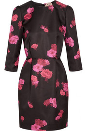 No. 21 Amelia floral-print duchesse-satin mini dress