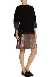 No. 21 Glenda pleated sequined chiffon skirt