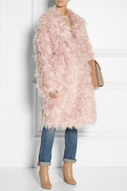 No. 21 Casire oversized mohair-blend faux shearling coat