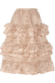 No. 21 Gigliola ruffled silk-organza skirt