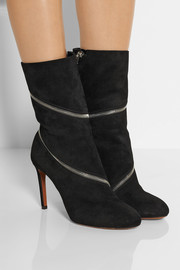 Alaïa Zipped suede ankle boots