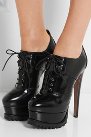 Alaïa Lace-up patent-leather ankle boots