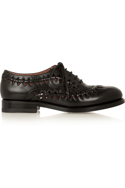 Alaïa Cutout leather brogues