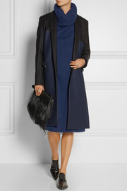 Chalayan Color-block wool-blend twill coat