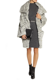 Chalayan Oversized faux fur coat