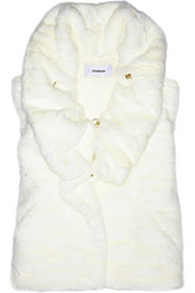 Chalayan Gathered faux fur vest