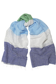 Havana metallic striped voile scarf