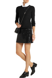 Karl Lagerfeld Harlow sequined quilted jersey mini skirt