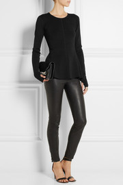 Karl Lagerfeld Nieve stretch-knit peplum sweater