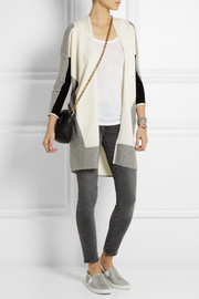 Karl Lagerfeld Elke paneled wool and cashmere-blend cardigan