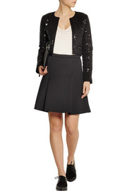 Karl Lagerfeld Harlow cropped quilted sequined jersey jacket