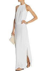 Splendid Stretch-jersey halterneck maxi dress