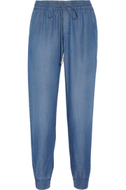 Splendid Indigo Dye chambray track pants