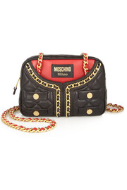 Moschino Jacket quilted leather shoulder bag