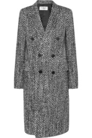 Saint Laurent Wool and mohair-blend tweed coat
