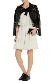 Saint Laurent Sequin-embellished silk-georgette mini dress