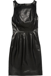 Saint Laurent Open-back leather mini dress