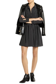 Saint Laurent Polka-dot silk crepe de chine dress