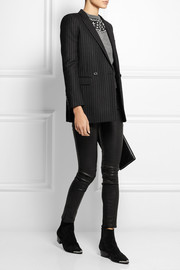 Saint Laurent Pinstriped wool-twill blazer