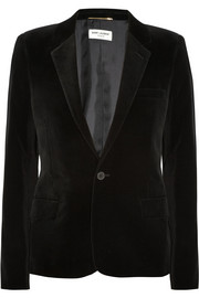 Saint Laurent Cotton-blend velvet blazer