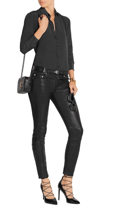 SAINT LAURENT Stretch-leather skinny pants