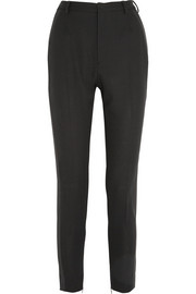 Saint Laurent Wool-crepe slim-leg tuxedo pants