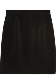 Saint Laurent Cotton-blend velvet mini skirt