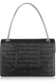 Saint Laurent Betty Jumbo croc-effect leather shoulder bag