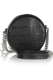 Saint Laurent Bubble small croc-effect leather shoulder bag