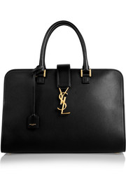 Saint Laurent Monogramme Cabas leather tote