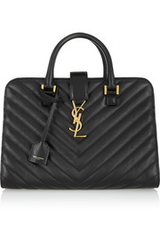Saint Laurent Monogramme Cabas small quilted leather tote