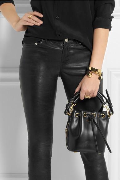 Saint Laurent | Emmanuelle small leather bucket bag | NET-A-PORTER.COM