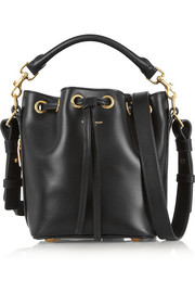 Emmanuelle small leather bucket bag