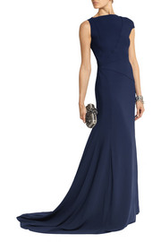 Vionnet Asymmetric stretch-crepe gown