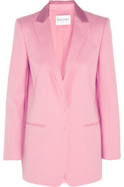 Vionnet Calf hair-trimmed wool and angora-blend blazer