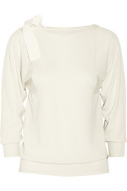 Vionnet Silk-trimmed fine-knit merino wool sweater