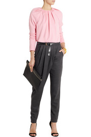 Vionnet Belted stretch-wool twill tapered pants