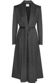 Vionnet Belted wool and cashmere-blend felt coat