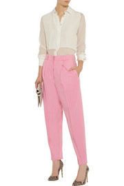 Vionnet Wool and angora-blend felt tapered pants