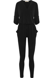 Studded stretch-jersey jumpsuit
