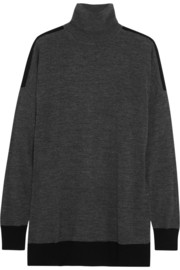 MICHAEL Michael Kors Two-tone merino wool-blend turtleneck sweater