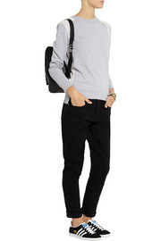 MICHAEL Michael Kors Terry-paneled cotton-blend jersey sweatshirt