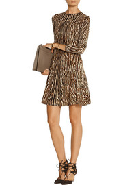 MICHAEL Michael Kors Animal-print stretch cotton-blend mini dress