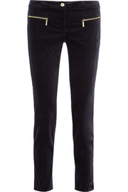 MICHAEL Michael Kors Stretch-velvet straight-leg pants